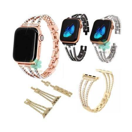 خرید بند استیل ساعت اپل واچ Apple Watch 38/40mm مدل زنجیری نگین دار