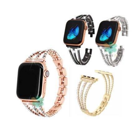 خرید بند استیل ساعت اپل واچ Apple Watch 42/44mm مدل زنجیری نگین دار