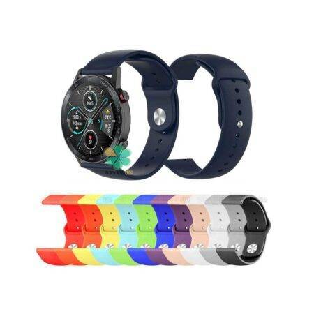 خرید بند سیلیکونی ساعت هواوی Honor MagicWatch 2 46mm مدل دکمه ای