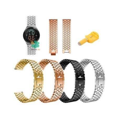 خرید بند استیل ساعت هواوی واچ Huawei Watch GT 2e طرح کندویی