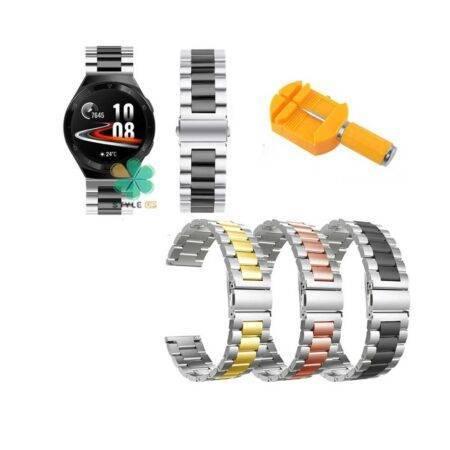خرید بند ساعت هواوی واچ Huawei Watch GT 2e مدل استیل دو رنگ
