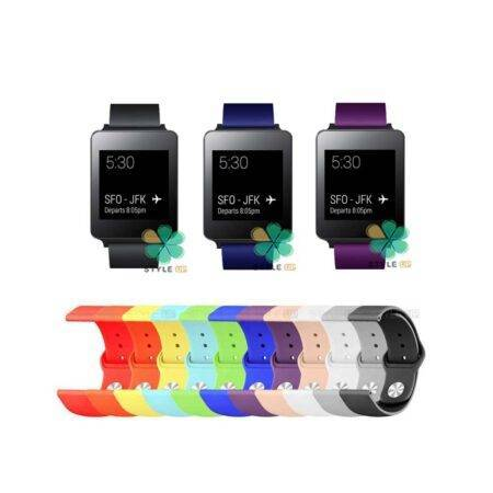 خرید بند سیلیکونی ساعت ال جی LG G Watch W100 مدل دکمه ای