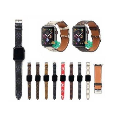 خرید بند ساعت اپل واچ Apple Watch 42/44mm طرح لویی ویتون