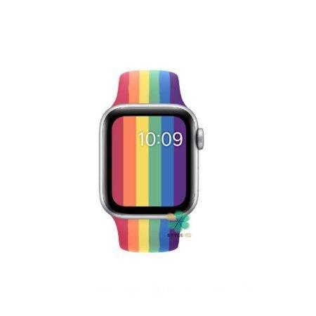 خرید بند سیلیکونی ساعت اپل واچ Apple Watch 42/44mm مدل رنگین کمان