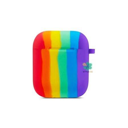 خرید کاور سیلیکونی هندزفری اپل ایرپاد Apple Airpods مدل رنگین کمان