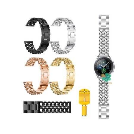 خرید بند ساعت هوشمند سامسونگ Galaxy Watch 3 45mm مدل استیل زنجیری
