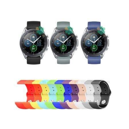 خرید بند سیلیکونی ساعت سامسونگ Samsung Galaxy Watch 3 45mm مدل دکمه ای