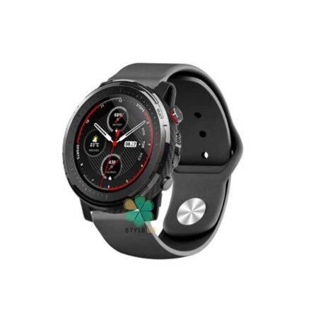 عکس بند سیلیکونی ساعت شیائومی Amazfit Stratos 3 مدل دکمه ای