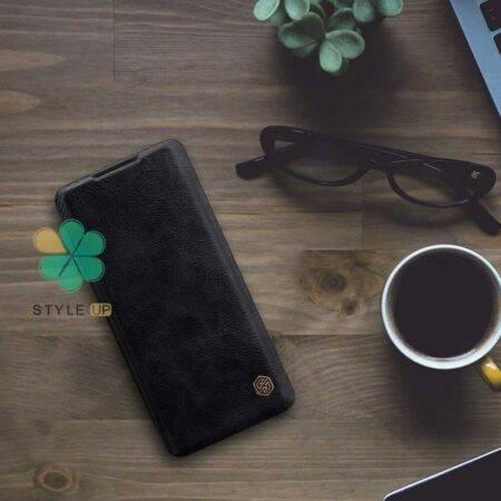 تصویر کیف چرمی نیلکین گوشی سامسونگ Samsung Galaxy A20e مدل Qin