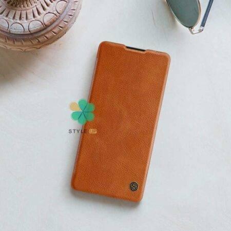 تصویر کیف چرمی نیلکین گوشی شیائومی Xiaomi Mi 10 Lite 5G مدل Qin