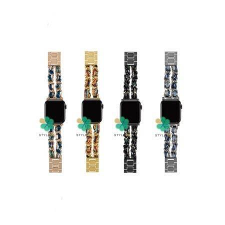 خرید بند استیل ساعت اپل واچ Apple Watch 38/40mm مدل پارچه ای زنجیری