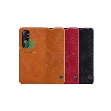 خرید کیف چرمی نیلکین گوشی شیائومی Xiaomi Mi Note 10 Lite مدل Qin