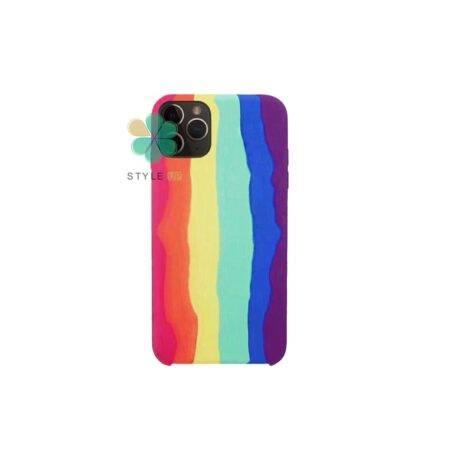 خرید قاب سیلیکونی گوشی اپل آیفون Apple iPhone 11 Pro Max مدل رنگین کمان