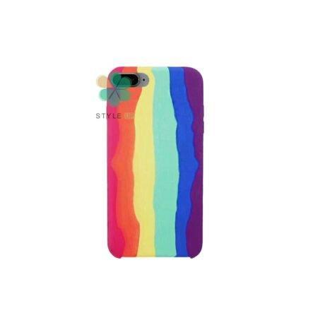 خرید قاب سیلیکونی گوشی اپل iPhone 7 Plus / 8 Plus مدل رنگین کمان