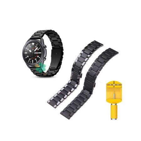 خرید بند فلزی ساعت سامسونگ Galaxy Watch 3 45mm مدل 3Bead Carbon