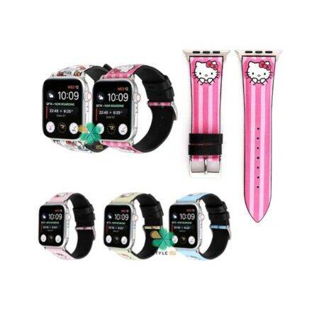 خرید بند ساعت اپل واچ Apple watch 42/44mm طرح Hello kitty