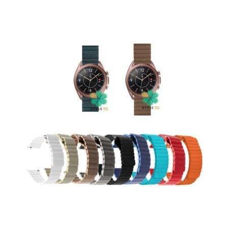 خرید خرید بند چرمی ساعت سامسونگ Galaxy Watch 3 41mm مدل Leather Loop