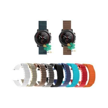 خرید بند چرمی ساعت شیائومی Amazfit Stratos 3 مدل Leather Loop