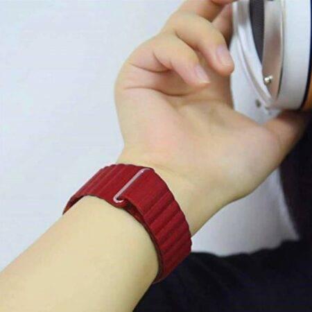 عکس بند چرمی ساعت شیائومی Xiaomi Haylou LS02 مدل Leather Loop