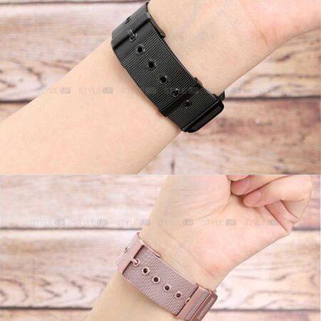 عکس بند ساعت سامسونگ Galaxy Watch 3 45mm مدل حصیری Mesh Steel
