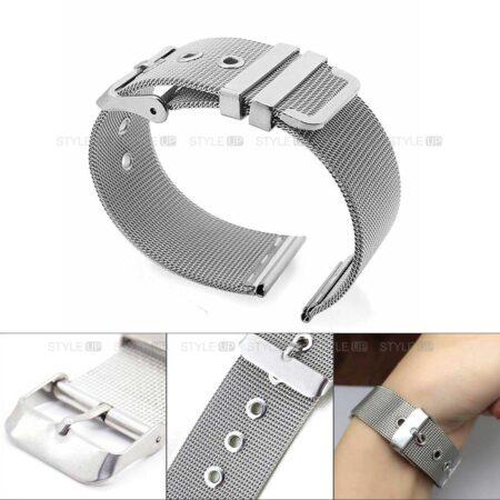خرید بند ساعت سامسونگ Galaxy Watch 3 45mm مدل حصیری Mesh Steel