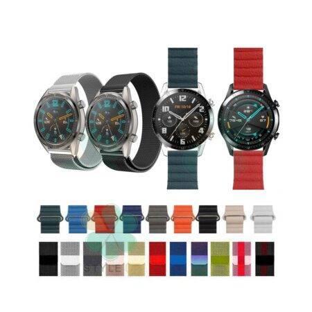 خرید کالکشن بند میلانس و چرمی مگنتی Huawei Watch GT 2 46mm
