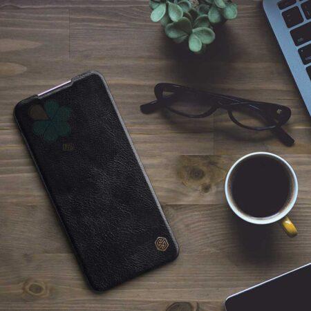 عکس کیف چرمی نیلکین گوشی شیائومی Xiaomi Poco X2 مدل Qin