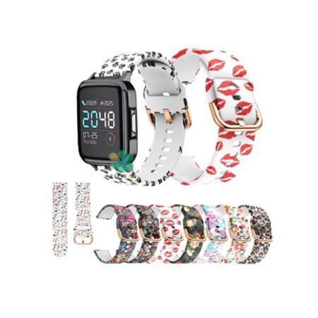 خرید بند ساعت شیائومی Xiaomi Haylou LS02 سیلیکونی طرح دار