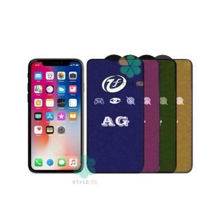 خرید گلس مات گوشی اپل آیفون Apple iPhone X / XS مدل Rainbow