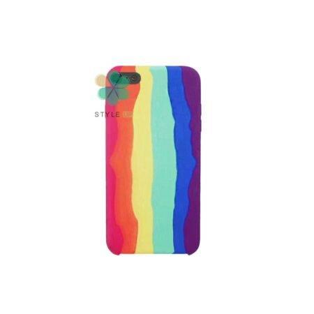 خرید قاب سیلیکونی گوشی اپل آیفون iPhone SE 2020 مدل رنگین کمان
