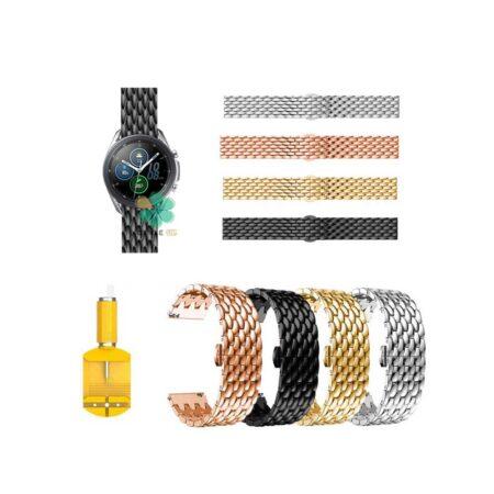 خرید بند ساعت سامسونگ Galaxy Watch 3 45mm مدل فلزی طرح دراگون
