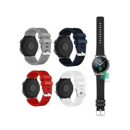 خرید بند سیلیکونی ساعت سامسونگ Galaxy Watch 3 45mm طرح گلکسی