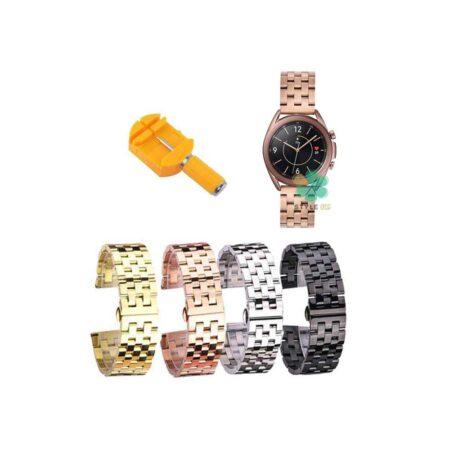 خرید بند ساعت هوشمند سامسونگ Galaxy Watch 3 41mm استیل 5Bead