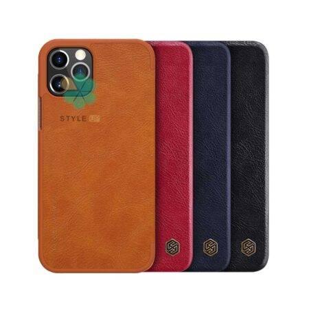 خرید کیف چرمی نیلکین گوشی اپل آیفون Apple iPhone 12 Pro مدل Qin