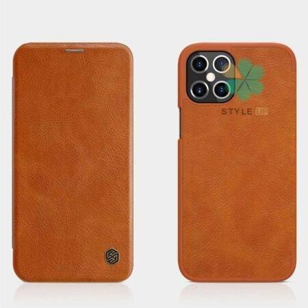 عکس کیف چرمی نیلکین گوشی اپل Apple iPhone 12 Pro Max مدل Qin