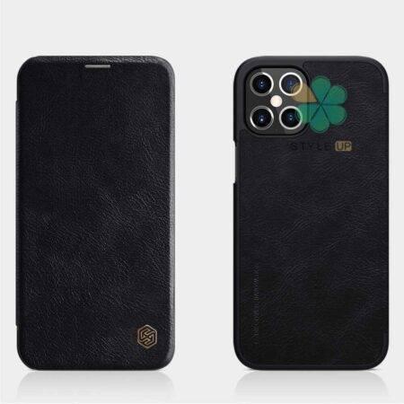 تصویر کیف چرمی نیلکین گوشی اپل Apple iPhone 12 Pro Max مدل Qin
