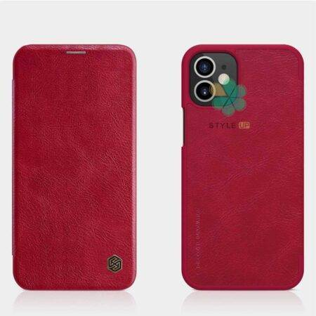تصویر کیف چرمی نیلکین گوشی اپل آیفون Apple iPhone 12 مدل Qin