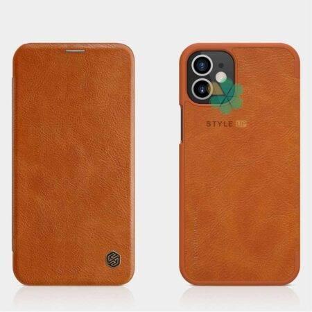 خرید کیف چرمی نیلکین گوشی اپل آیفون Apple iPhone 12 مدل Qin