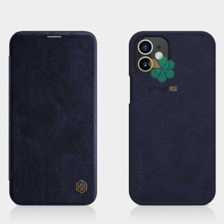 عکس کیف چرمی نیلکین گوشی اپل آیفون Apple iPhone 12 مدل Qin