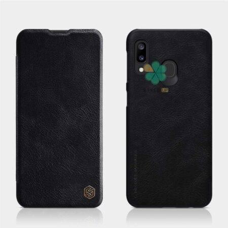 خرید کیف چرمی نیلکین گوشی سامسونگ Samsung Galaxy A20 مدل Qin