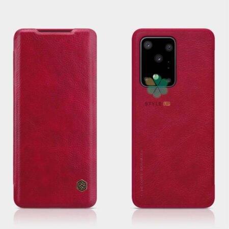 خرید کیف چرمی نیلکین گوشی سامسونگ Galaxy S20 Ultra مدل Qin
