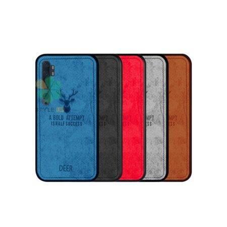 خرید قاب گوشی شیائومی Xiaomi Mi Note 10 پارچه ای طرح گوزن