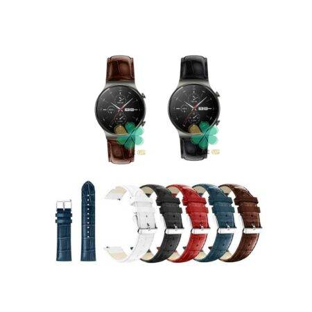 خرید بند چرمی ساعت هواوی Huawei Watch GT 2 Pro طرح Alligator