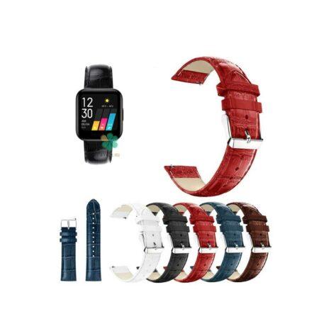 خرید بند چرمی ساعت ریلمی واچ Realme Watch طرح Alligator
