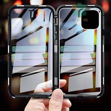 عکس محافظ 360 درجه شیشه ای مگنتی گوشی آیفون iPhone 12 Pro