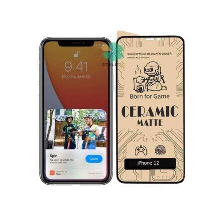 خرید گلس سرامیکی مات گوشی اپل آیفون Apple iPhone 12