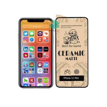 خرید گلس سرامیکی مات گوشی اپل آیفون Apple iPhone 12 Mini