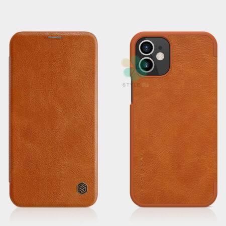 خرید کیف چرمی نیلکین گوشی آیفون Apple iPhone 12 Mini مدل Qin