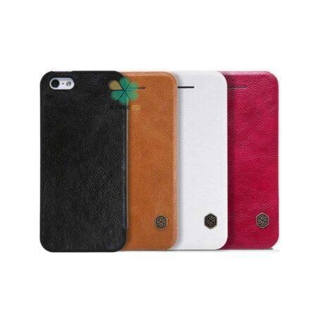 خرید کیف چرمی نیلکین گوشی اپل آیفون Apple iPhone 5s / SE مدل Qin