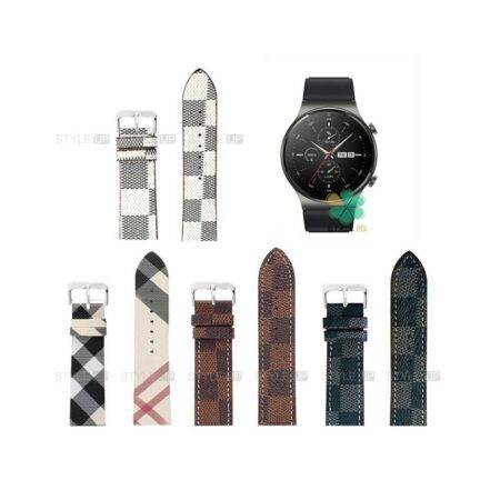 خرید بند ساعت هواوی واچ Huawei Watch GT 2 Pro طرح لویی ویتون